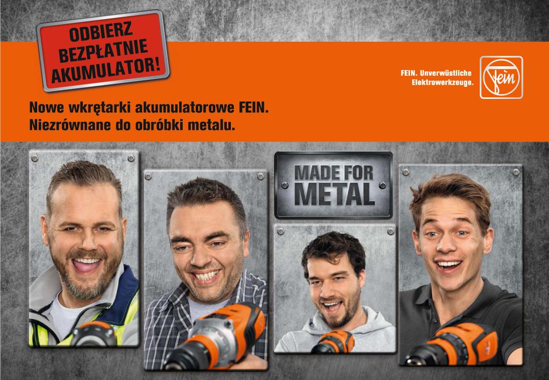 wiercenie w metalu - fein kupon ascm 18 qm